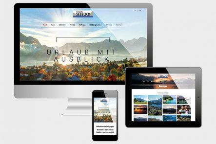 Projekte Pension Seeblick - Website