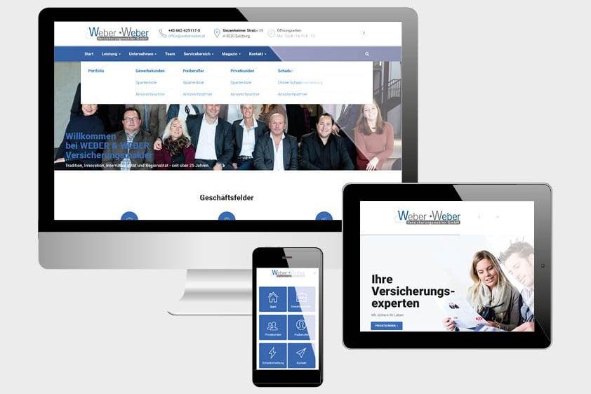 Projekte Weber - Website