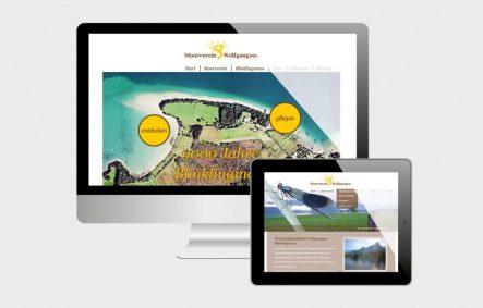 Projekte Moorverein Wolfgangsee - Website