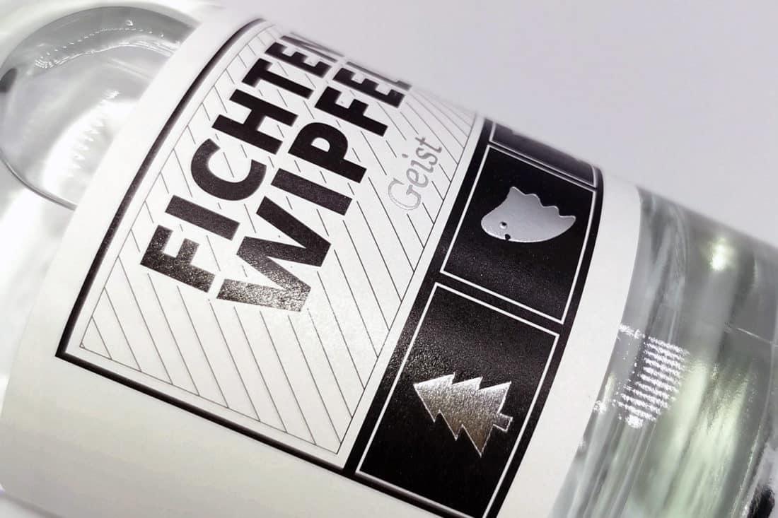 Projekte Bebek - Fichtenwipfelgeist-Etikett