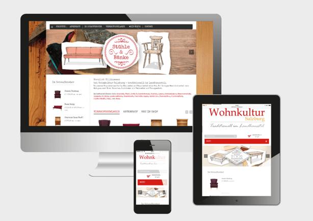Projekte Wohnkultur Salzburg - Website