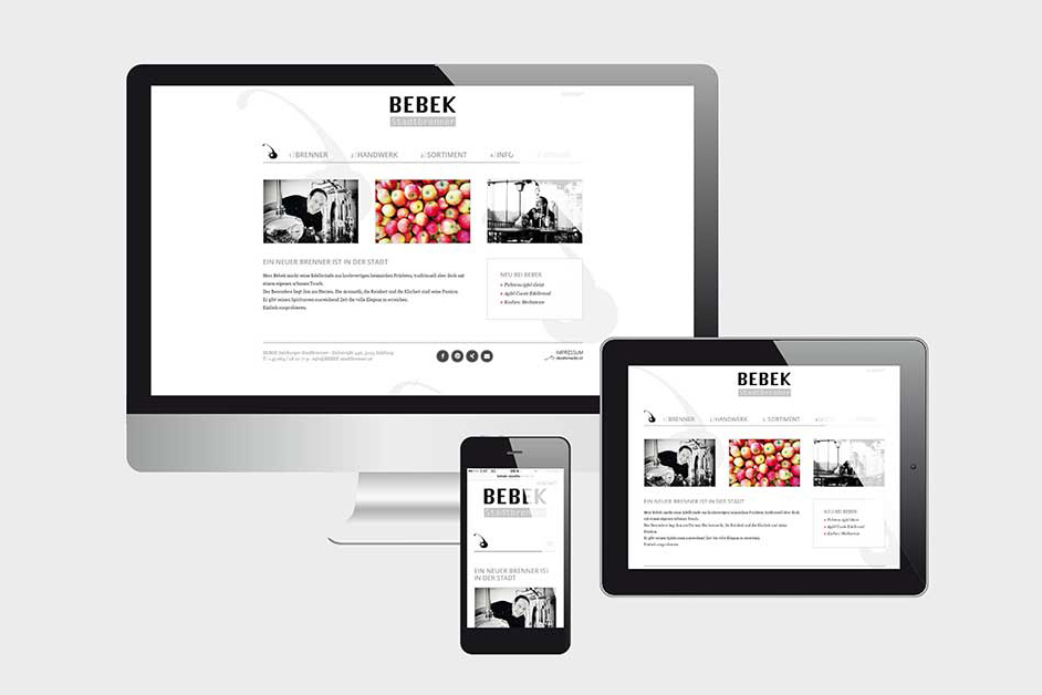 Projekte Bebek - Website