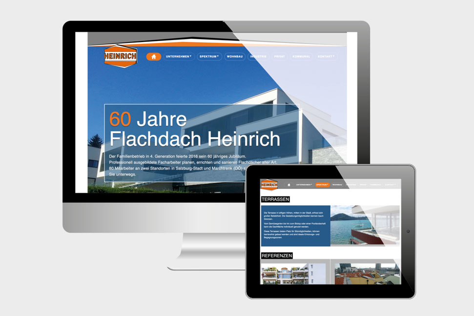 Projekte Flachdach Heinrich - Website