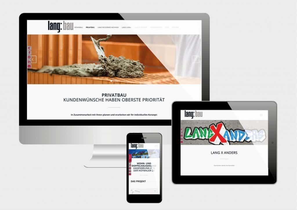 Projekte Lang Bau - Website